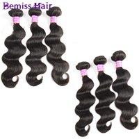 beauty wave long - Indian Virgin Human Hair Weaves Brazilian Health And Beauty Jewelry Body Wave Bundles Dye Virgin Hair Long Weaves Styles Natural Color Hair