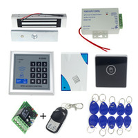 Wholesale rfid door access control keypad electronic magnetic lock power supply rfid keyfobs door bell touch exit button remote control