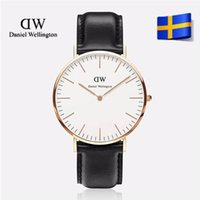 Wholesale 2017 top luxury brand Daniel Welington watch fashion dw watches mens dw watch leather mm rose gold Couple watch dw lady watches relojes
