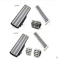 Wholesale For VW Golf MK6 Jetta MK5 Scirocco Octavia Stainless Steel Transmission Pedal Includes Footrest Clutch Brake Gas Pedal LHD