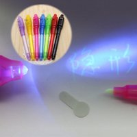 Wholesale 1000pcs Color in Magic Invisible Ink Pen UV Black Light Combo Invisible Ink Pen Security Mark Creative