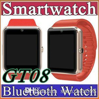 Wholesale 20X GT08 SmartWatche Bluetooth Smart Watch Wristband Bluetooth Bracelet WithSim Card Push Message Bluetooth Connectivity Android Phone C BS