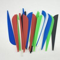 Wholesale 100pcs quot Red Black White Blue Green Water Drop Shape Hunting Arrow Plastic Vanes Archery Arrow Accessories DIY Fletch Arrow Feathers FT10