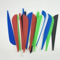 Wholesale 5000pcs quot Red Black White Blue Green Water Drop Shape Hunting Arrow Plastic Vanes Archery Arrow Accessories DIY Fletch Arrow Feathers FT10