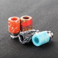 bear beauty - 510 Turquoise Drip Tip Stainless Steel Tophus Stone Mouthpiece Beauty Wide Bore Drip Tips Color Fit RDA RTA Atomier Tanks
