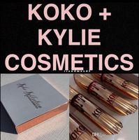 Wholesale New Kylie Jenner Lip Kit Lip gloss KOKO Kollection Kylie Cosmetics kollaboration Gold Metal Matte lipstick make up Set