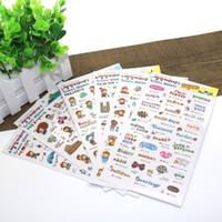 Wholesale 6 sets New Korea Creative Cartoon Transparent Sticker Albums Diary Kawaii Pvc Sticker School Supplies Baking Stickers
