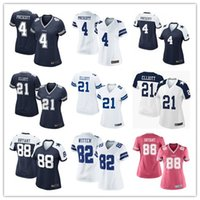 authentic cowboys jerseys - elite women cowboys Jerseys Dak Prescott Ezekiel Elliott Dez Bryant Witten cheap Dallas authentic football shirts