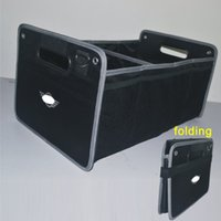 Wholesale folding car storage box black folding trunk Car Organizer Cargo Container Bags Stowing Tidying Auto Accessor for mini cooepr and non logo