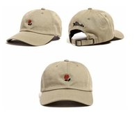 Wholesale The Hundreds Rose Hips Flowers Embroidered Women and Men Cap Sunscreen Baseball Cap Shade Adjustable Snapback Caps