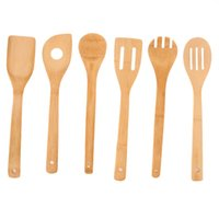 Wholesale 2016 Hot Useful Eco friendly Bamboo Wood Spatula Spoon Kitchen Cooking Tool Sets