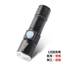 best pocket torch - Best price USB Handy LED Torch usb Flash Light Pocket LED Rechargeable Flashlight Zoomable Lamp