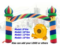 Wholesale inlet outlet arch customized m m m m Christmas festival activity Inflatable Archways Water proof Oxford cloth Advertising inflatables