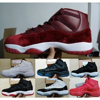 Wholesale Legend Blue Retro XI Bred Basketball Shoes Cheap Good Quality Men Leather Sports Shoes Mens Basketball Shoes