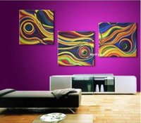 More Panel art deco paintings sale - Sale Huge Modern Art Deco Abstract Oil Painting Guaranteed