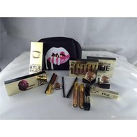 Wholesale New Kylie Birthday Bundle Makeup Gift Box Bag Collection Cosmetics Bronze Kyliner Copper Creme Shadow Lip Gloss Kit Kylie Jenner Cosmetics