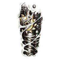 Wholesale New Fashion Man D Tattoo Robot Arm Waterproof Temporary Tattoo Stickers