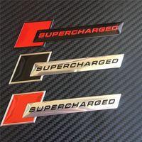 audi supercharged badge - Car Styling Universal Aluminum Supercharged Emblem Badge Decoration Sticker Decals For Audi Chevrolet Volkswagen