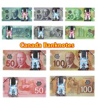 Wholesale 5Pcs Canada Banknotes Set Bank Staff Training Learning Banknotes Poker Chip Arts Gifts Home Decoration Arts Crafts