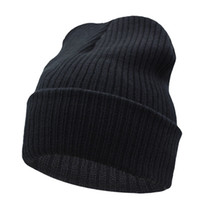 Wholesale Beanies Winter Hat For Men Knitted Hat Women Winter Hats For Women Men Knit Caps Blank Casual Wool Warm Flat Bonnet Beanie