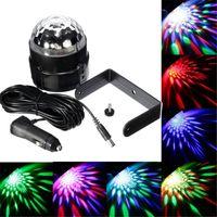 Wholesale 3W Colorful RGB Sound activated LED Magic Ball Stage Light for Disco Car Decoration Light for inner car bus V V LEG_90J