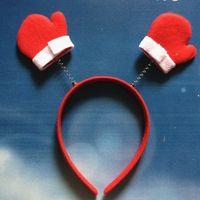 Wholesale Christmas Party Decoration Santa Snowman christmas ornaments tree Head hoop Hairpin headdress hair bands headband