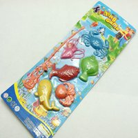 Wholesale Small fishing toys exercise hands and feet coordination small animals