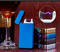 Wholesale Electric Dual Arc Metal Flameless Torch USB Rechargeable Windproof Electronics usb cigarette cigar Lighter