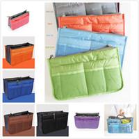 Wholesale Christmas Discount Color pc Bag in Bag Dual Insert Multi function Handbag Makeup Bag Pocket Bag Organizer Washing Bag Cosmetic Handbag