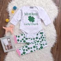 baby girl charms - NWT New cute Baby Girls piece Outfits Summer Sets Cotton Romper Onesies Diaper covers Harem Pants Daddy and Mommy s Lucky Charm