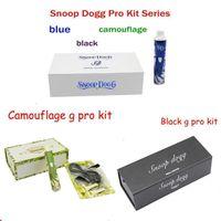 Wholesale Snoop Dog Dry herb mAh G Pro vaporizer kit series vape kit white with blue black camouflage vaporizer kit vaporizer