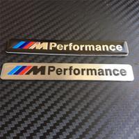 Wholesale 10pcs M Performance Mperformance Motorsport aluminum Logo Car Sticker Emblem Badge for BMW E34 E36 E39 E53 E60 E90 F10 F30 M3 M5 M6