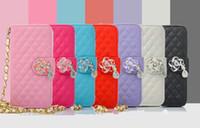 apple suede - Camellia iphone7 holster samsung s7edge suede pendant pearls holster plus apple mobile phones PU TPU