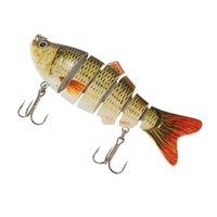 Wholesale Lixada cm Segments Life liking Fishing Lure Crankbait Hard Bait Fish Strong Treble Hook Fishing Tackle