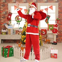 Wholesale The Christmas clothing sets Santa Clothes non woven adult male show performances clothing performance clothing