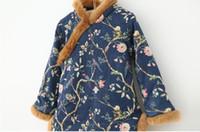 Wholesale print With velvet Skirts Dress cheongsam