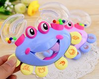 Wholesale Kids Baby Toys Crab Design Handbell Musical Instrument Jingle Shaking Rattle Toy