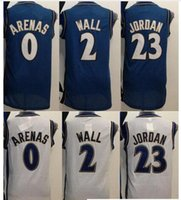 arena products - A men s Throwback Blue Gilbert Arenas White Product For Men wall jor Jersey