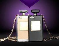 achat en gros de galaxie note2 cas de luxe-Bouteilles de parfum de marque de luxe sac de cas de téléphone pour le samsung Galaxie s4 s5 s6 s7 bord note2 3 4 5 iphone5C 5s 6 6s 7 coque plus
