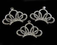 Wholesale g new fashion Frozen shiny diamond crown Mini full diamond Children s headwear accessories