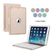 aluminium keyboard ipad - F8S LED Backlit Aluminium Bluetooth Keyboard Smart Folio Case cover with touch pen Keyboard for iPad Pro inch iPad Air Q001