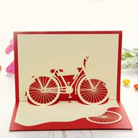 Valentine's Day bicycle christmas cards - D Pop Up Greeting Card Handmade Bicycle Birthday Valentine Easter Christmas Y103