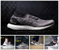 athletic camps - Ultra Boost Uncaged Black Running Shoes Runners Shoes Low Tops Men Ultra Boost Cool Running Sport Shoes Styles Athletic Sneakers