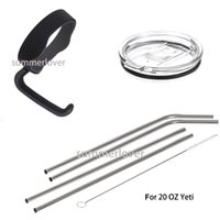 Wholesale Handle Lid Straws Set for Oz YETI Tumbler Rtic Sic Cup Holder Rambler Black