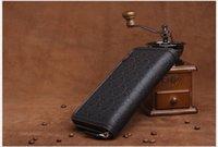 american interior design - New Casual wallet men purse Clutch bag Brand leather wallet long design men bag gift for men