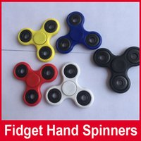 Wholesale Stocks Hand Spinner Triangle Tri Fidget Acrylic Plastic Ball Desk Focus Toy EDC For Kids Adults Finger Spinning Top