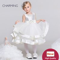 beautiful designer wedding gowns - Dresses for toddlers White designer baby girl clothes Beautiful flower girl dresses Flower girl wedding Chinese suppliers
