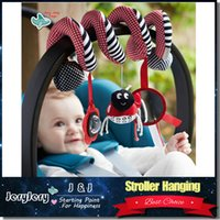 bell sets - Cute Infant Babyplay Baby Toys Activity Spiral Bed Stroller Toy Set Hanging Bell Crib Rattle Toys For Baby