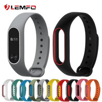 Wholesale Colorful Silicone Wrist Strap Bracelet Double Color Replacement watchband for Original Miband Xiaomi Mi band Wristbands