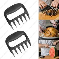 Wholesale Grizzly Bear Paws Meat Claws Handler Fork Tongs Pull Shred Pork BBQ Barbecue Tools BBQ Grilling Accessories with Retail box